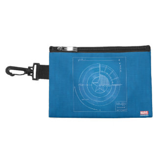 Captain America Shield Blueprint Accessory Bag