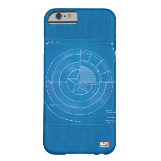 Captain America Shield Blueprint Barely There iPhone 6 Case