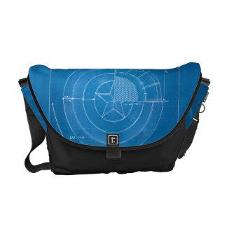 Captain America Shield Blueprint Courier Bag
