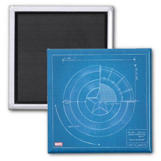 Captain America Shield Blueprint Magnet