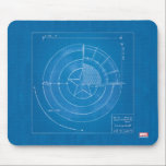 "Captain America Shield Blueprint Mouse Pad<br><div class=""desc"">Avengers Classics</div>"