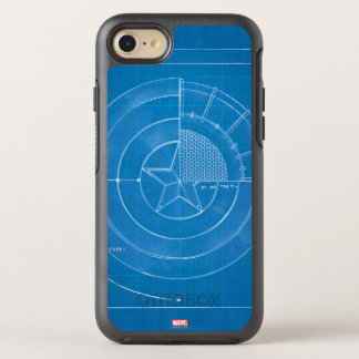 Captain America Shield Blueprint OtterBox Symmetry iPhone 8/7 Case
