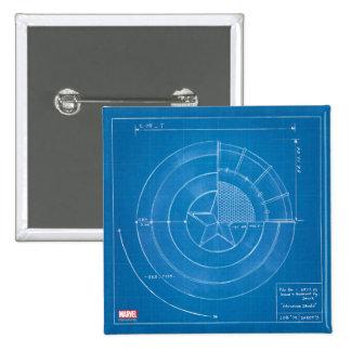 Captain America Shield Blueprint Pinback Button