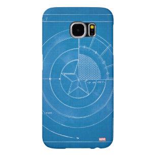 Captain America Shield Blueprint Samsung Galaxy S6 Case
