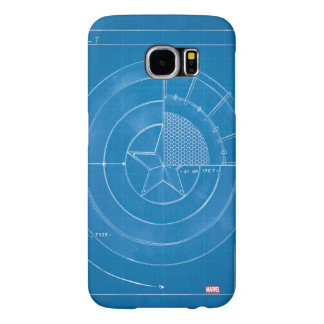 Captain America Shield Blueprint Samsung Galaxy S6 Case
