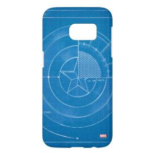 Captain America Shield Blueprint Samsung Galaxy S7 Case
