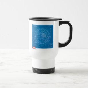 Blueprint coffee travel mugs zazzle captain america shield blueprint travel mug malvernweather Choice Image