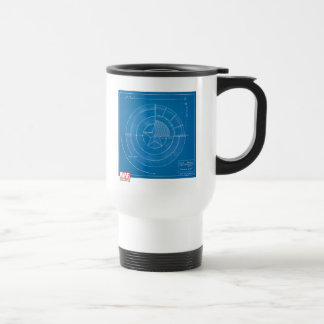 Captain America Shield Blueprint Travel Mug