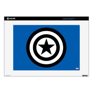 "Captain America Shield Icon 15"" Laptop Decal"
