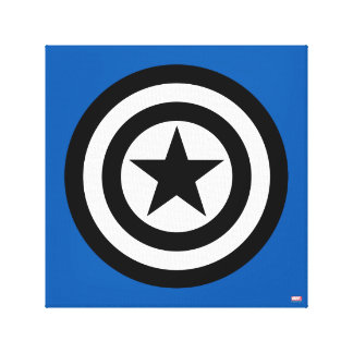 Captain America Shield Icon Canvas Print