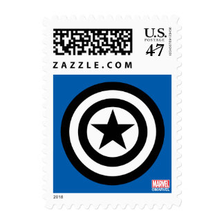 Captain America Shield Icon Postage