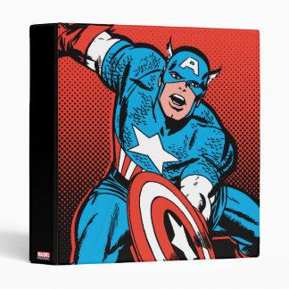 Captain America Shield Slam 3 Ring Binder