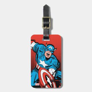 Captain America Shield Slam Bag Tag