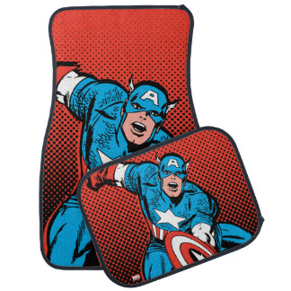 Captain America Shield Slam Car Floor Mat
