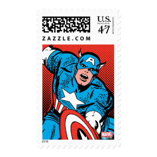 Captain America Shield Slam Postage