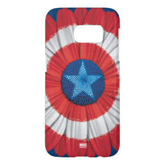 Captain America Shield Styled Daisy Flower Samsung Galaxy S7 Case