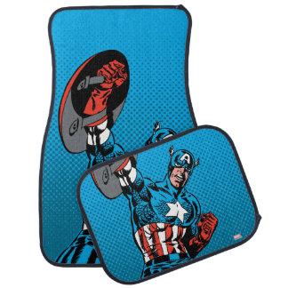Captain America Shield Up Car Mat