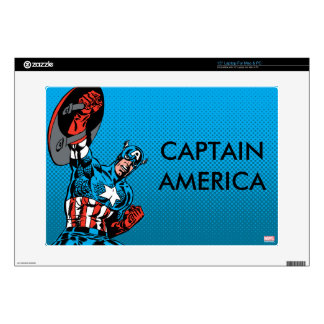 "Captain America Shield Up Decal For 15"" Laptop"