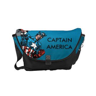 Captain America Shield Up Small Messenger Bag