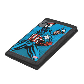 Captain America Shield Up Trifold Wallet