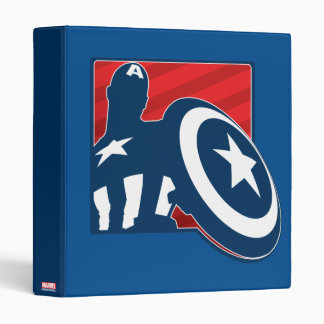 Captain America Silhouette Icon Binder