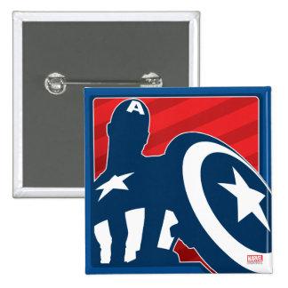 Captain America Silhouette Icon Button