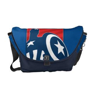 Captain America Silhouette Icon Courier Bag