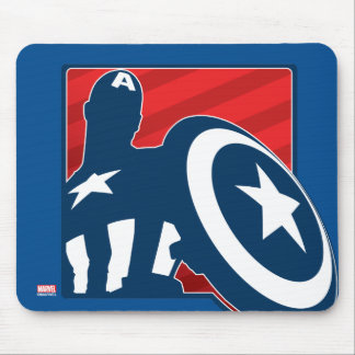 Captain America Silhouette Icon Mouse Pad