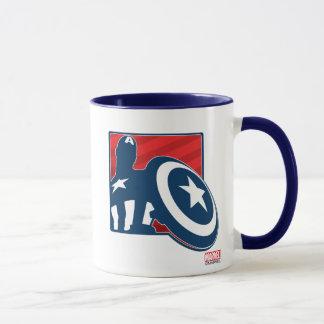 Captain America Silhouette Icon Mug