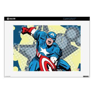 "Captain America Star 15"" Laptop Skin"
