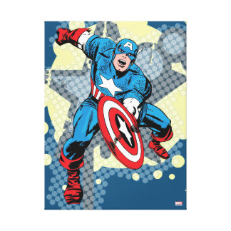 Captain America Star Canvas Print