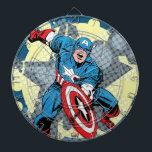 """Captain America Star Dartboard<br><div class=""""desc"""">Check out Captain America slamming down his shield in this halftone graffiti star graphic.</div>"""