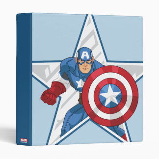 Captain America Star Graphic 3 Ring Binder