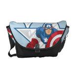 Captain America Star Graphic Messenger Bag