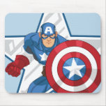 Captain America Star Graphic Mousepads