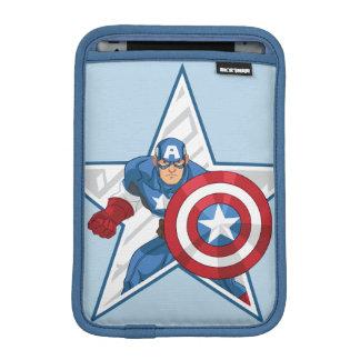 Captain America Star Graphic Sleeve For iPad Mini