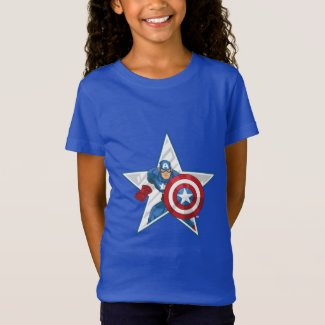 Captain America Star Graphic T-Shirt