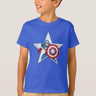 Captain America Star Graphic T-Shirt