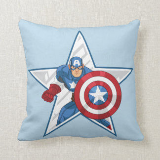 Captain America Star Graphic Throw Pillow