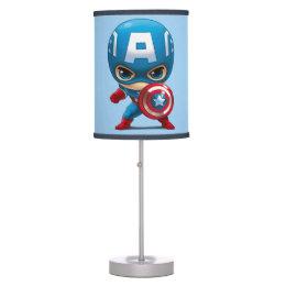 Captain America Stylized Art Desk Lamp