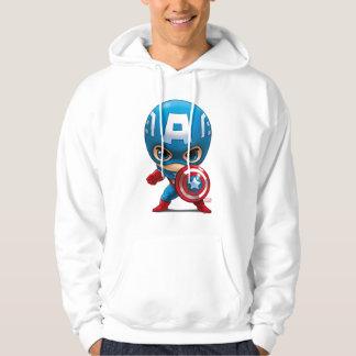 Captain America Stylized Art Hoodie