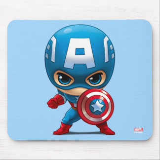 Captain America Stylized Art Mouse Pad