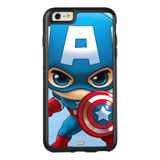 Captain America Stylized Art OtterBox iPhone 6/6s Plus Case