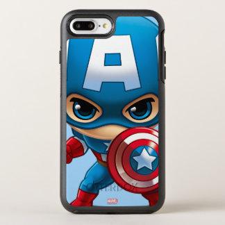 Captain America Stylized Art OtterBox Symmetry iPhone 7 Plus Case