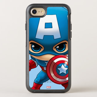 Captain America Stylized Art OtterBox Symmetry iPhone 8/7 Case