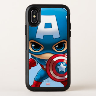 Captain America Stylized Art OtterBox Symmetry iPhone X Case