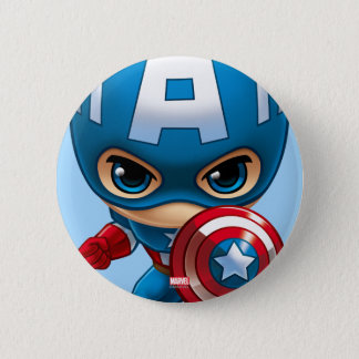 Captain America Stylized Art Pinback Button