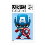 Captain America Stylized Art Postage