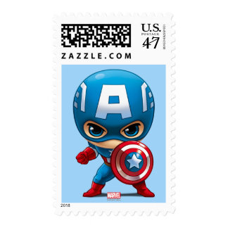Captain America Stylized Art Postage
