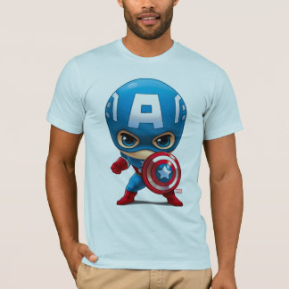Captain America Stylized Art T-Shirt